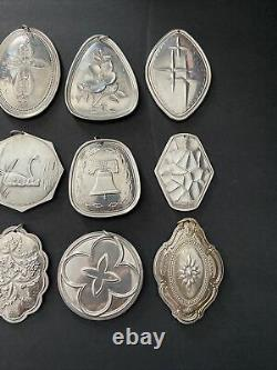 Towle Sterling Silver 12 Days Of Christmas Ornaments Complete Set