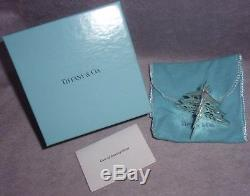 VHTF Tiffany 1999 Sterling Silver 3D Pierced Christmas Tree Ornament Decoration