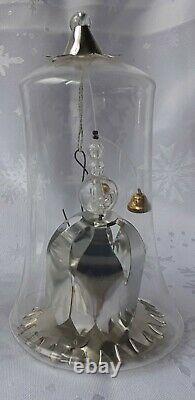 VINTAGE Set of 8 RESL LENZ German Glass Ornaments Gold Silver and Red Foil