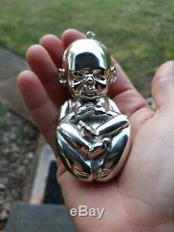 Very Rare Flaming Lips Silver Trembling Fetus Xmas Ornament from 2009