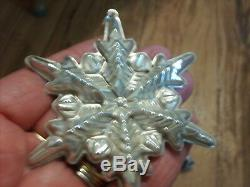 Vint. Gorham Sterling Silver 1972 Christmas Star Ornament