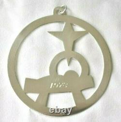 Vintage 1978 JAMES AVERY Sterling Silver Nativity Baby Manger Christmas Ornament