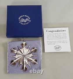 Vintage 1998 American Heritage Sterling Silver Snowflake Christmas Ornament