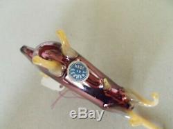 Vintage 20's Bimini German Blown SILVER / MERCURY Art Glass BULL Ornament