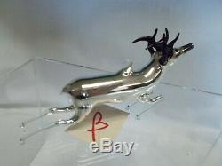 Vintage 20's Bimini German Blown SILVER / MERCURY Art Glass DEER Ornament