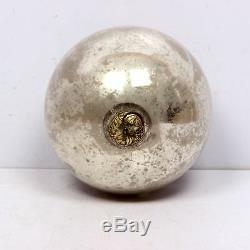 Vintage 5.11'' Silver Heavy Glass Kugel /Christmas Ornament, Germany