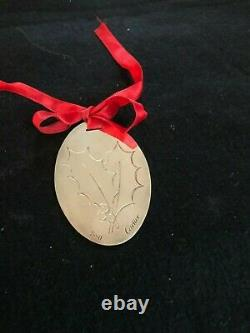Vintage Cartier Silver Holly Christmas Ornament/Pendant-1990