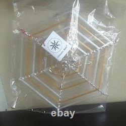 Vintage Christhopher Radko Christmas Ornament Spider Web Silver & Gold New