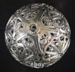 Vintage Eckartina Christmas Ornaments (24) Pierced Metal Filigree West Germany
