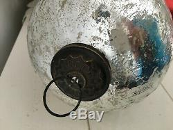 Vintage Giant Large Grape Cluster Silver Mercury Glass Christmas Kugel Ornament