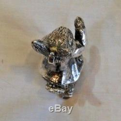 Vintage Hand & Hammer Sterling Silver Peter Rabbit Christmas Ornament
