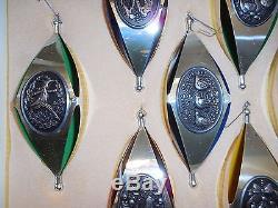 Vintage International Silver Twelve Days Of Christmas Sterling Ornaments
