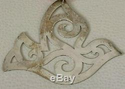Vintage James Avery Sterling Silver Peace Dove Christmas Ornament