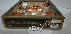 Vintage Mercury Glass Christmas Ornaments West Germany Gold Silver Rose Gold