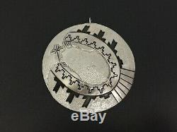 Vintage Michael Tahe Navajo Christmas Sterling Silver Mary Christ Decor Ornament