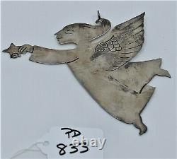 Vintage Sterling Silver Christmas Angel Star Ornament Pendant by Emilia Castillo
