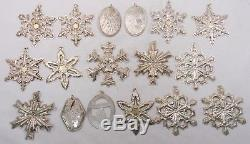 Vintage Towle Reed & Barton Gorham Sterling Silver Christmas Ornaments Lot of 17