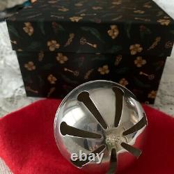 Vintage Wallace Silver Plate 1971 Sleigh Bell Ornament. 1st in series