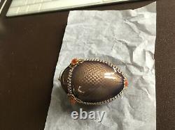 Vivian Alexander Ornament Eggs. 999 Fine Silver