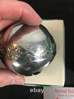 WALLACE CHRISTMAS Sleigh BELL1976 ORNAMENTS Silver Plate Box Holiday 6th
