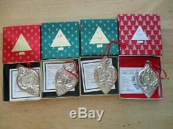 WALLACE Grand Baroque Silver 12 Twelve Days of Christmas Ornament Set with Boxes