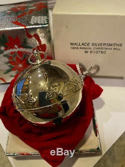 WALLACE SILVER PLATE CHRISTMAS BELLS ORNAMENTS 20 in LOT SEQUENTIAL1992 2002