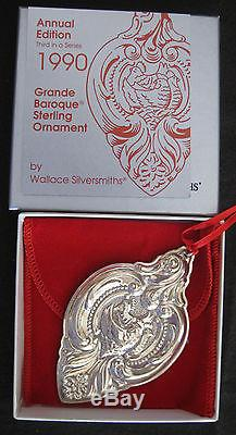 WALLACE Sterling Silver Ornaments 12 Days of Christmas 1988, 1989, 1990