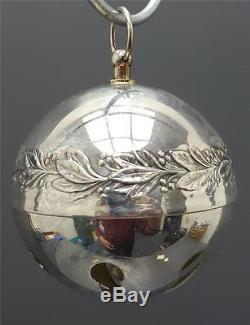 WALLACE silver plate 1971 Christmas Bell ball ornament 1st edition EUC