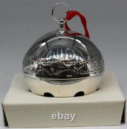 Wallace 1972 Silver Plated Christmas Sleigh Bell Ornament 2nd Limited Edition