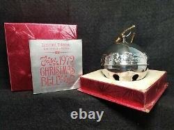 Wallace 1972 Silver Plated Sleigh Bell Christmas Ornament 2th in Series with Box