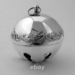 Wallace 2012 Christmas Sleigh Bell Ornament Sterling Silver