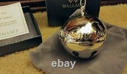 Wallace 2017 Sleigh Bell Silver Plate Ornament 47th Edition New in Box