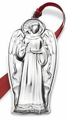 Wallace 2018 Grand Baroque Angel Sterling Silver Christmas Holiday Ornament 1