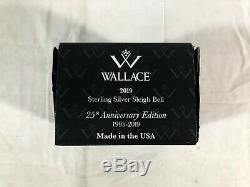 Wallace 2019 Sterling Sleigh Bell 25th Anniversary Ornament