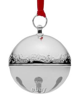 Wallace 2020 26th Edition Annual Sterling Silver Sleigh Bell Ornament 2.75
