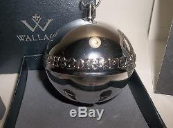 Wallace Silver Plated SLEIGH BELL 1971 2013 43rd EDITION MIB Peace On Earth