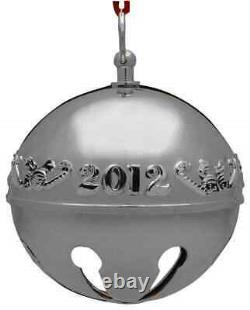 Wallace Silver Sleigh Bell-Sterling Ornament 2012 Candy Canes & Bells Boxed